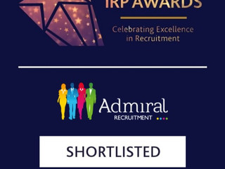 Admiral Recruitment is named a finalist in the IRP Awards 2019