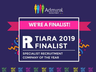 Admiral Recruitment is shortlisted for a TIARA Award