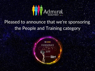 Admiral Recruitment sponsors The Foodservice Catey Awards 2019
