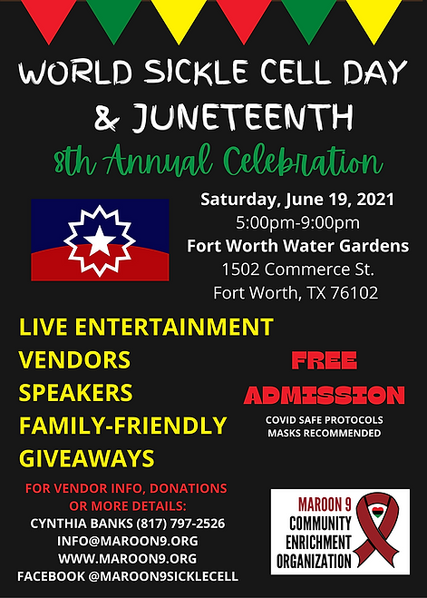 8th Annual World Sickle Cell Day & Juneteenth Celebration