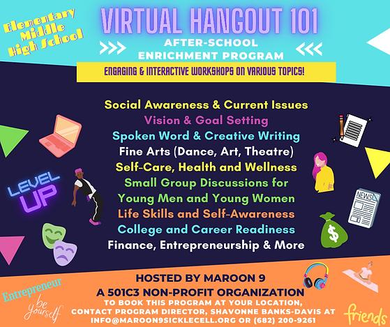 Virtual Hangout 101 Flyer