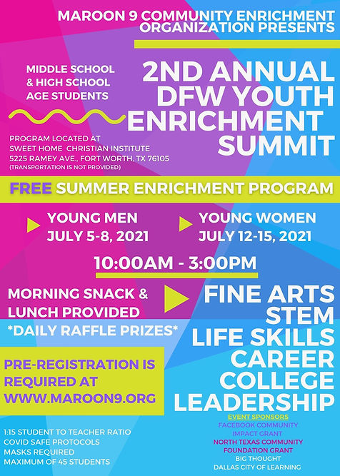 2nd Annual Youth Enrichment Summit Flyer