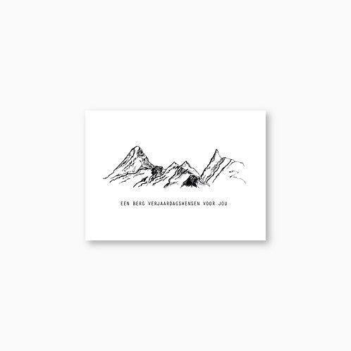 Een berg verjaardagswensen