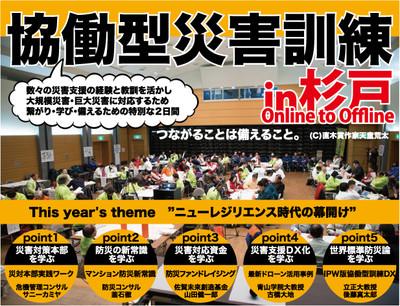 【プレスリリース】第8回協働型災害訓練 in 杉戸 ~CDT2021~を開催!