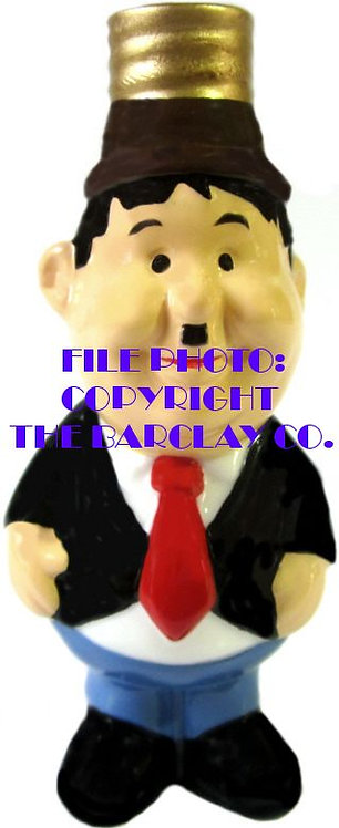 """#BC-045 - Laurel & Hardy """"Milk Glass"""" Bulb Cover - Oliver Hardy"""