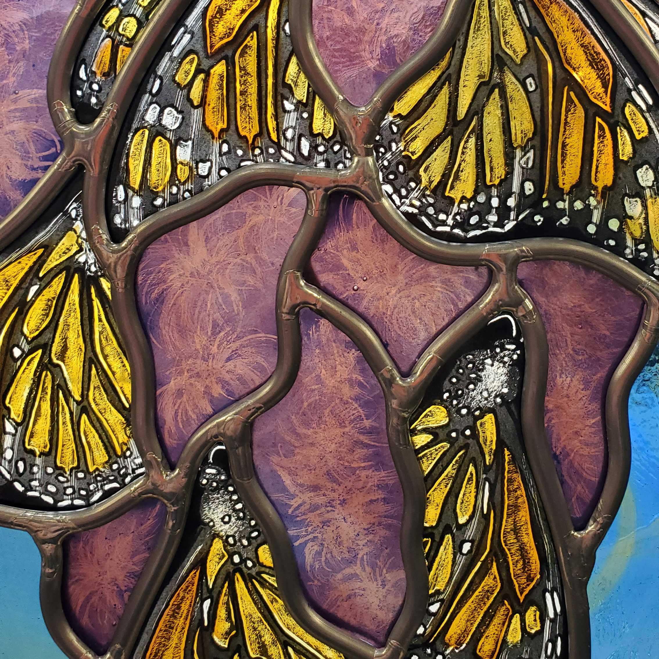 """Monarchs Swarm Blazing Star"" detail"