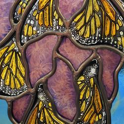"""Monarchs Swarm Blazing Star"" detail"