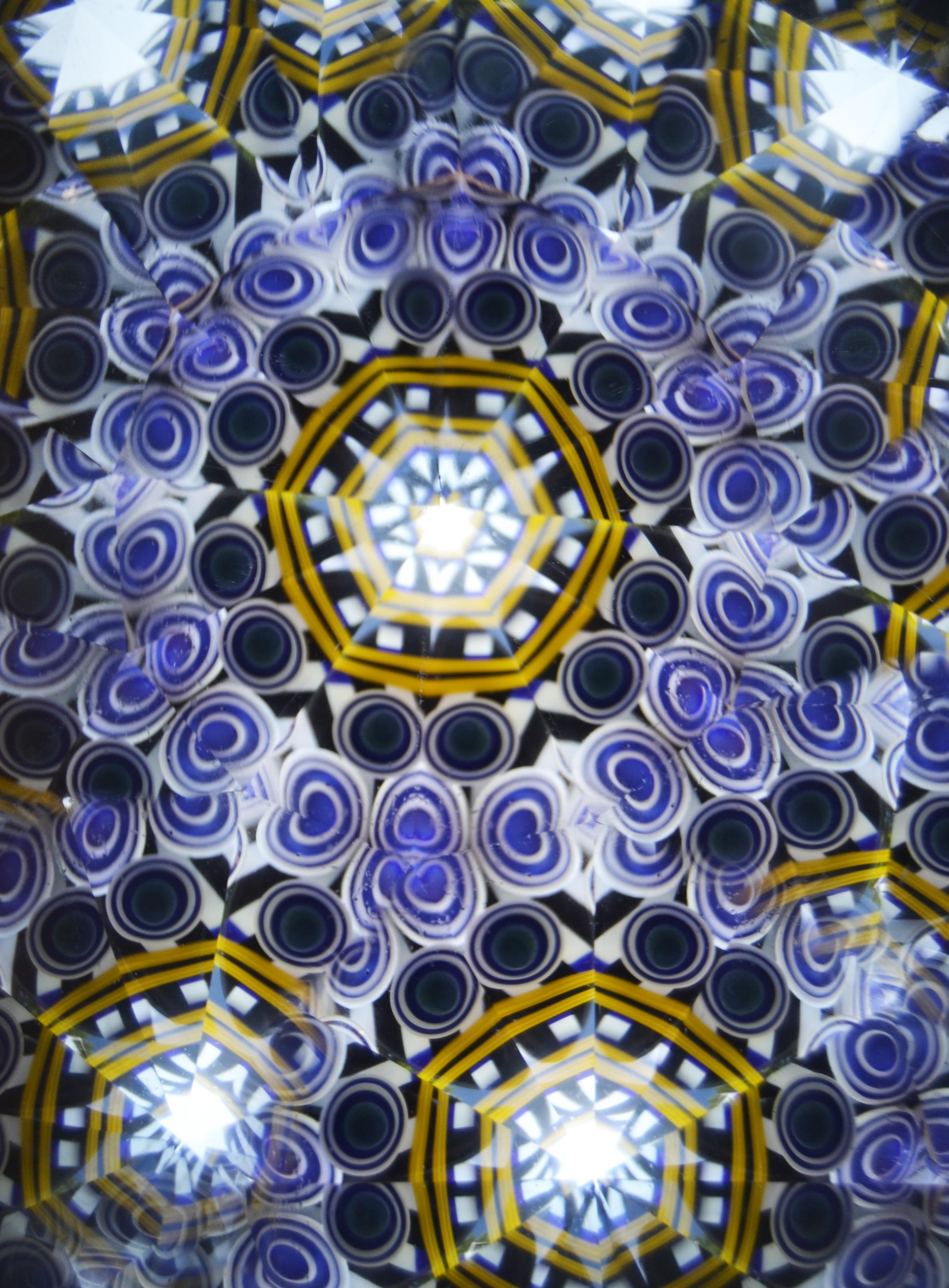 "Interior of Yellow/Blue ""Geometric"""