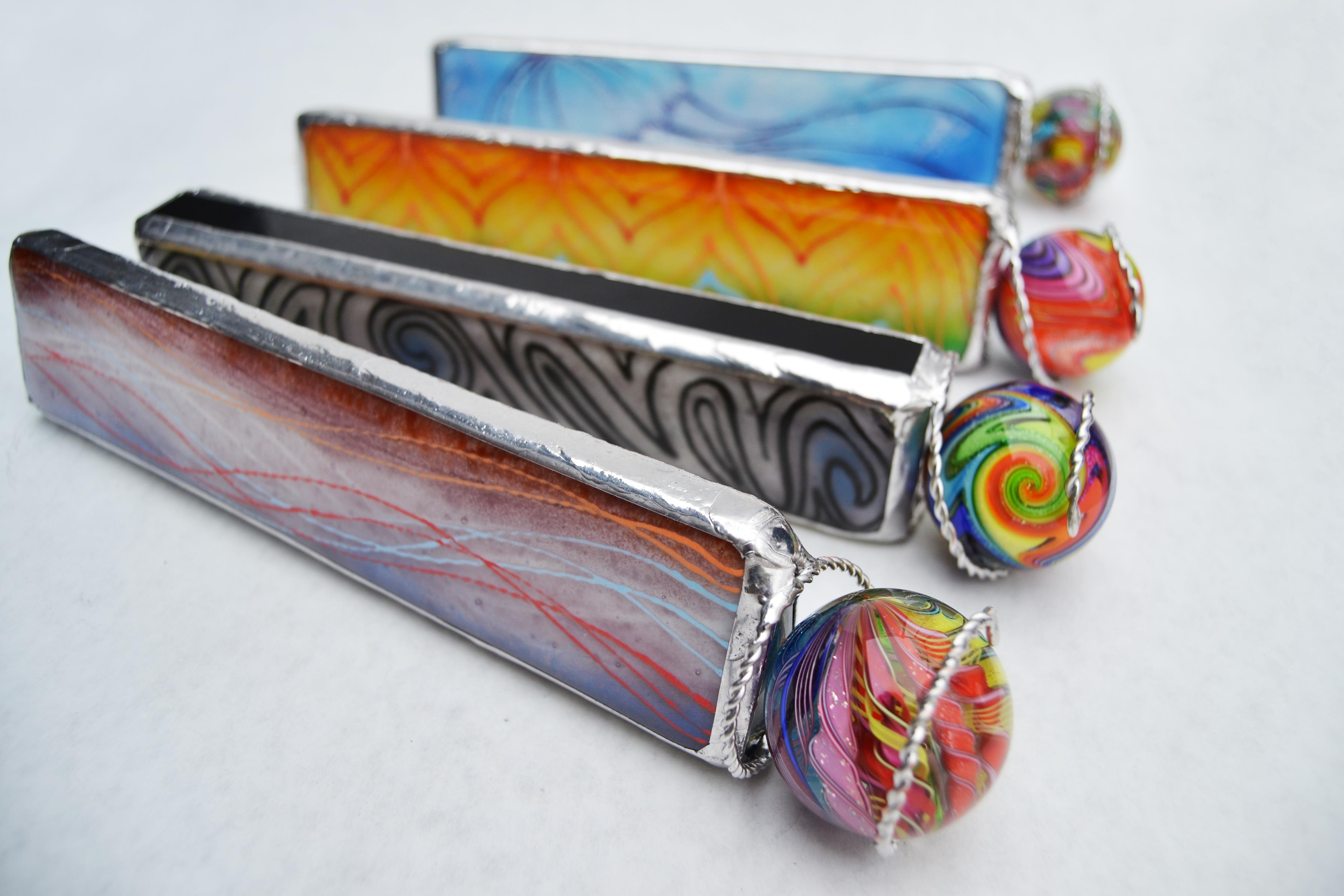 Painted Fused Glass Kaleidoscopes