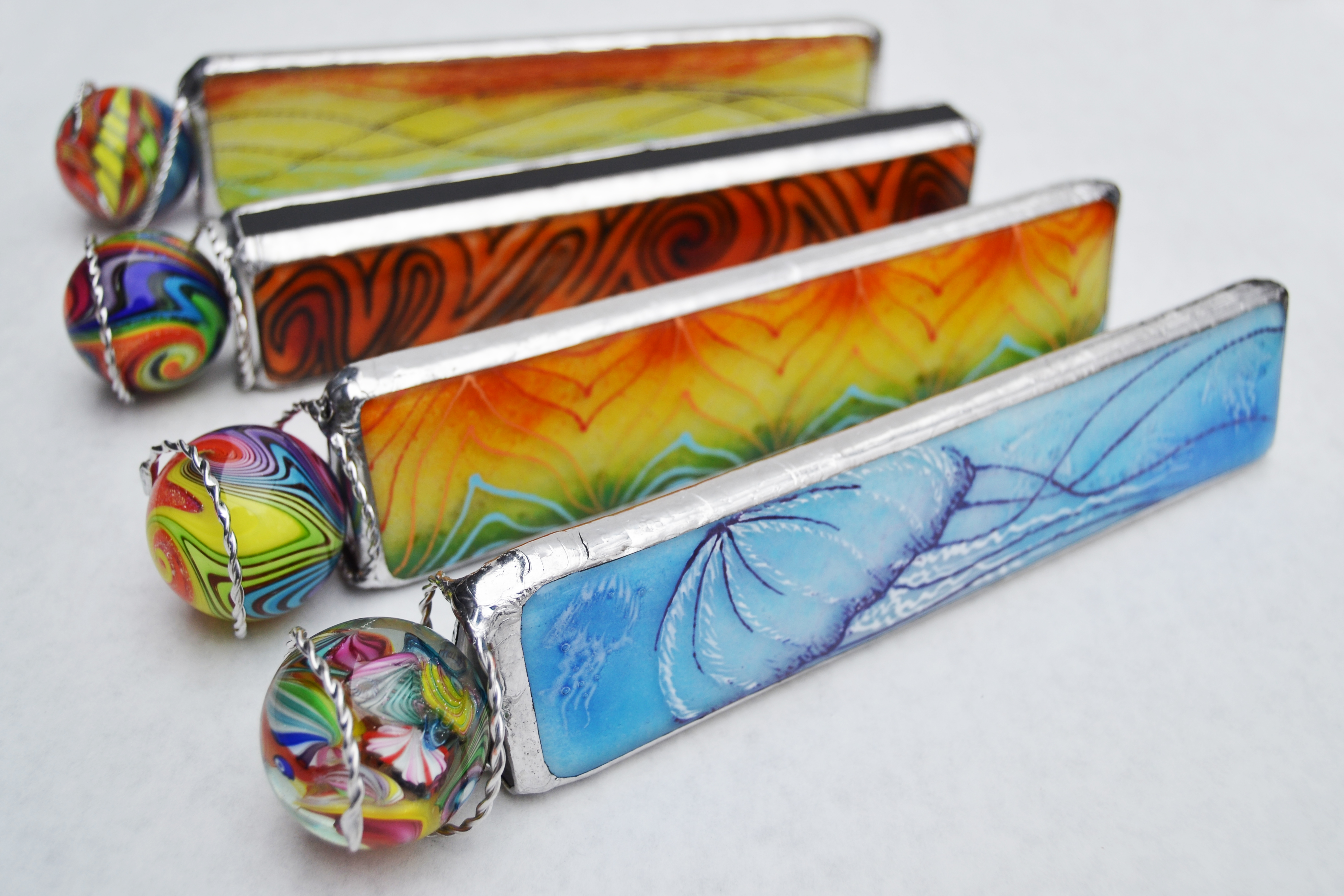 Painted Fused Glass Kaleidoscopes