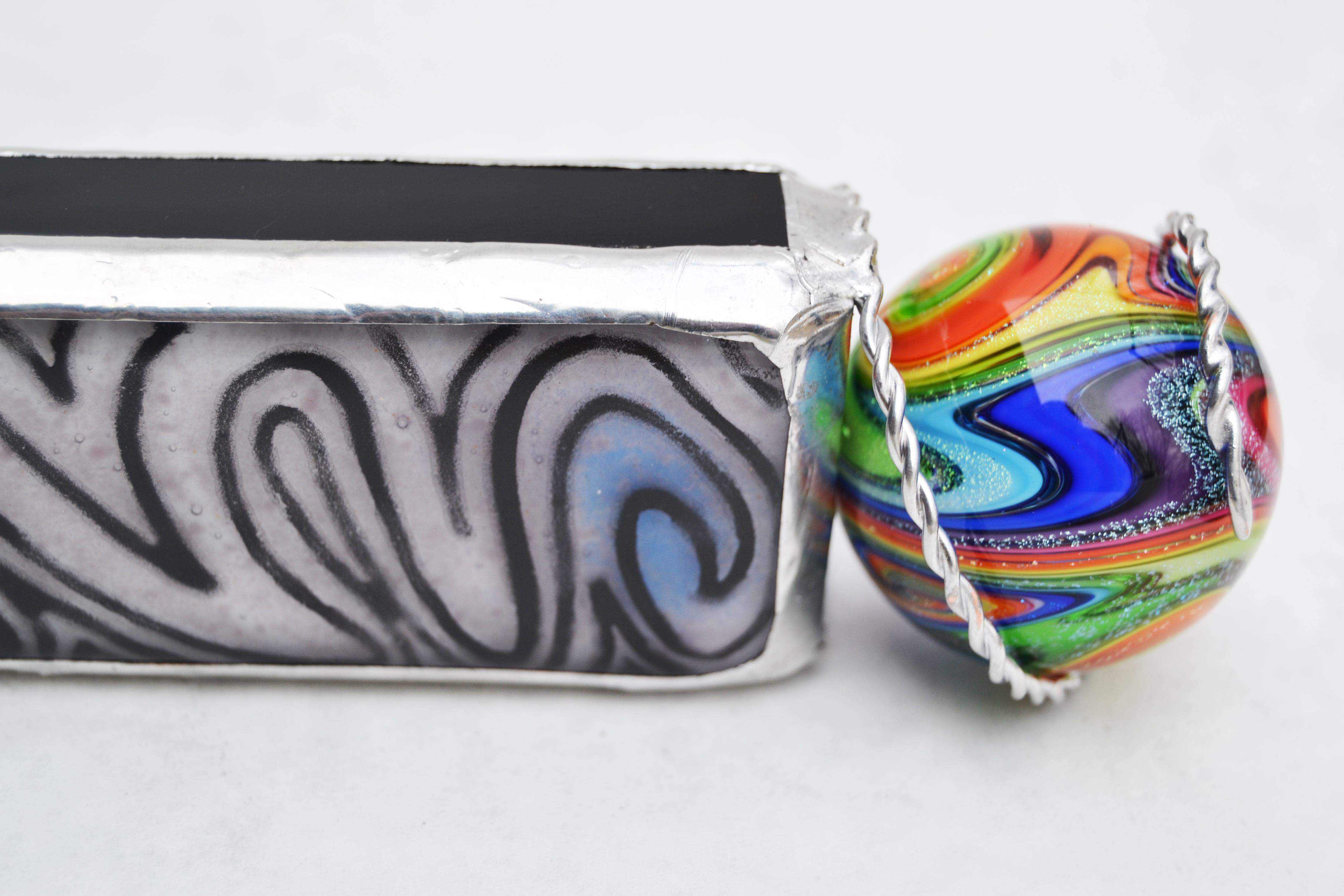 """Duality"" Fused Glass Kaleidoscope"