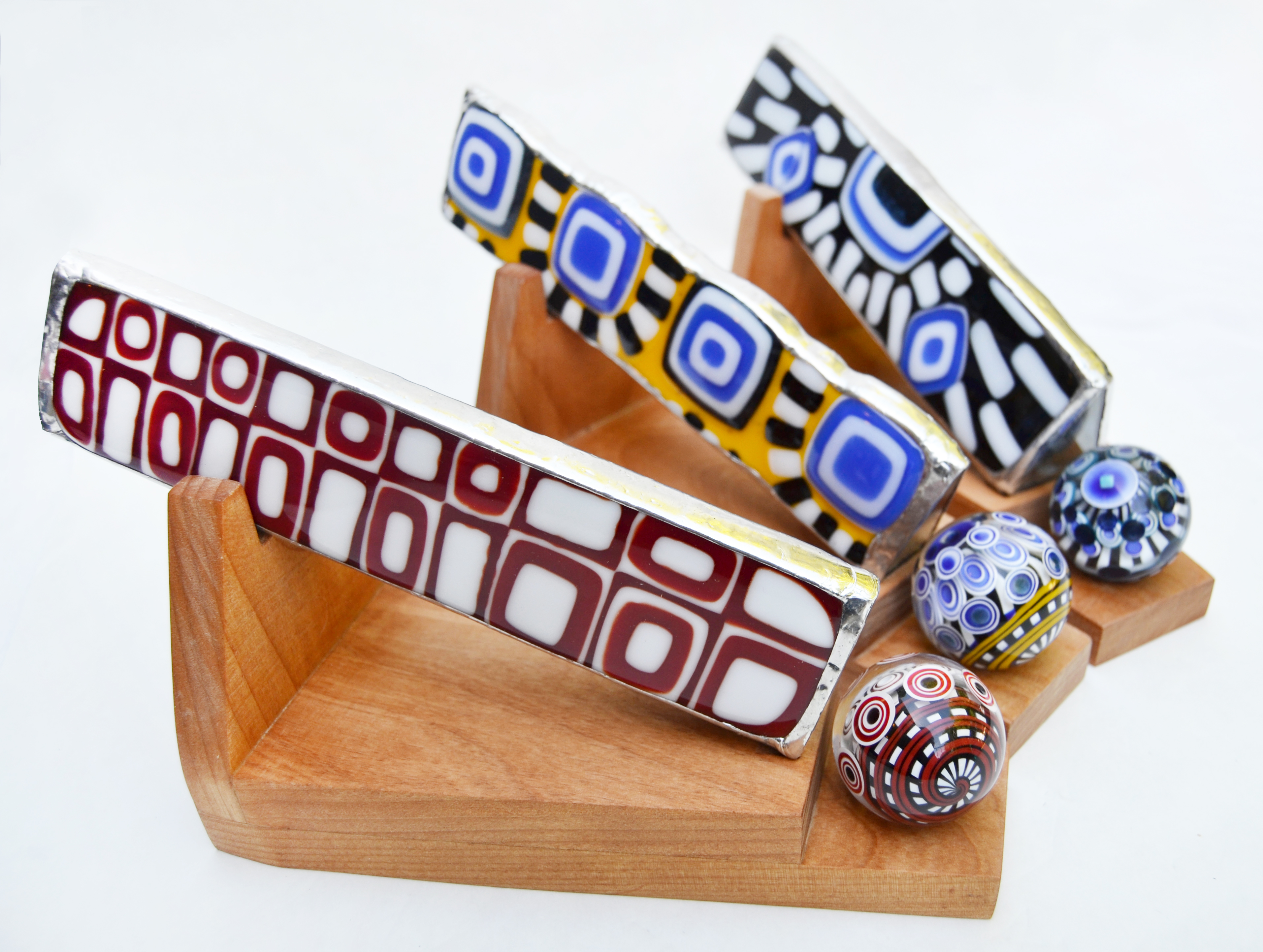 """Geometric"" Fused Glass Scopes"