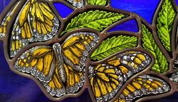 """Monarchs on Elm Wreath"" detail"