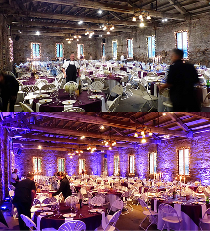 Before & After Uplighting - The Wedding DJ Company