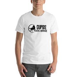 White Cupids Dog House Short-Sleeve Unisex T-Shirt
