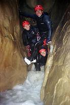 Etroiture dans le canyon du pont du Diable , dans le massifs des bauges , proche de Chambery et du lac du bourget