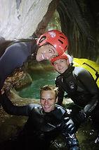 Le siphon du canyon de Terneze, proche de Chambery , dans le massif des bauges