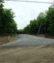 Entrée du projet, Chemin des Commissiares Les Boisés de l'Ange-Gardien