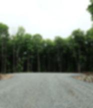 Rond point construction neuve Chemin Roméo-Lorrain à L'Ange-Gardien