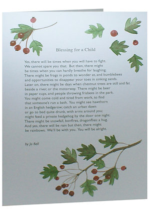 'Blessing for a Child' by Jo Bell