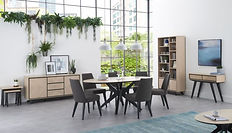 oval dining table Brunel-Chalk-Oak-and-G
