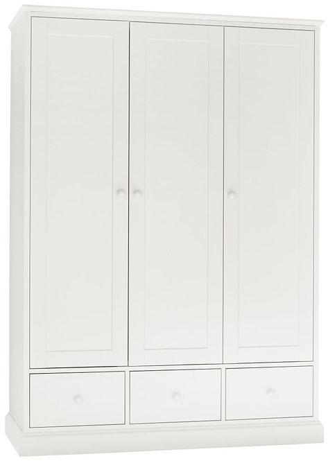 Ashby White 3 Door Triple Wardrobe