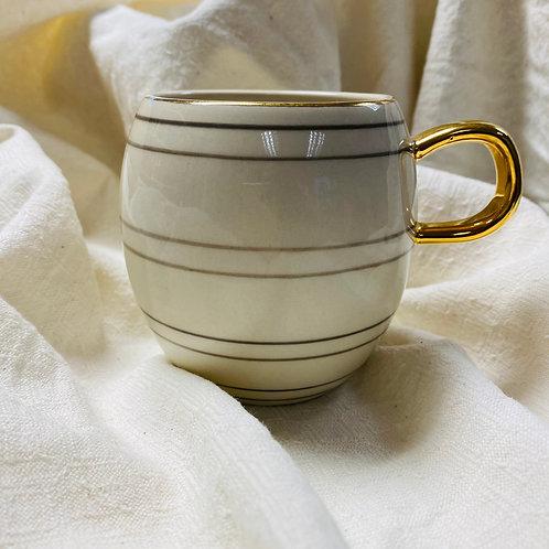 Cream and Gold Mug