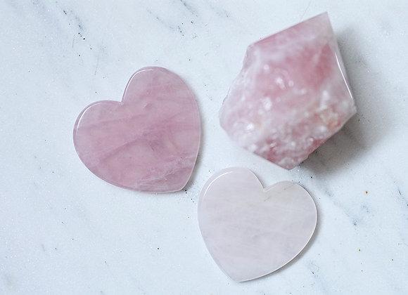 Rose Quartz Heart Gua Sha