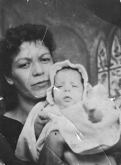 Frances Hinojosa with baby Gloria Hinojosa