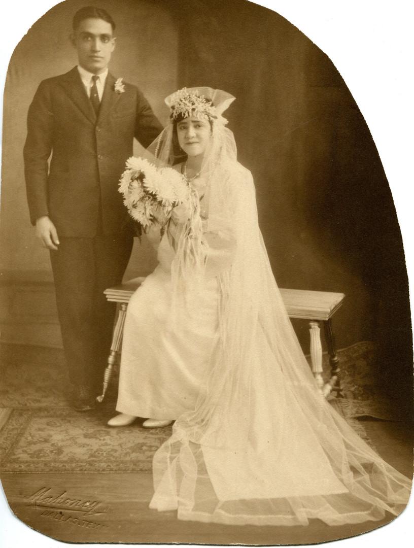 Wedding portrait of Jose Maria Padilla and Felicitas Barron, July 1,1925.