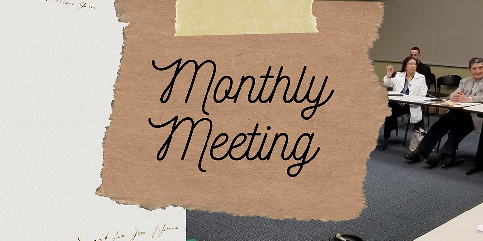Monthly DMAHL Meeting
