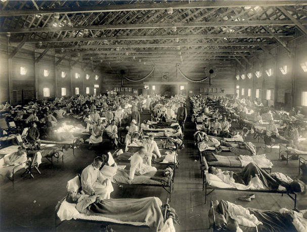 Emergency hospital during influenza