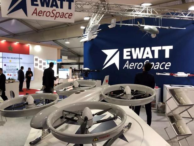 The Ewatt Aerospace booth