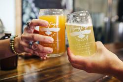 "Cheers with our seasonal Passionfruit & ""champagne style"" Elderflower Kombucha"