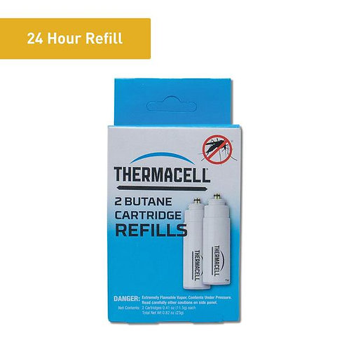 THERMACELL BUTANE REFILL CARTRIDGE 2PACK