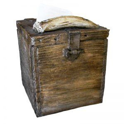 DECOR OLD CRATE TISSUE BOX COVER