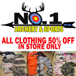 50% ALL IN STOCK CLOTHING (in store only)