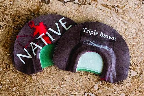 CALL TRIPLE BROWN DIAPHRAGM ELK CALL