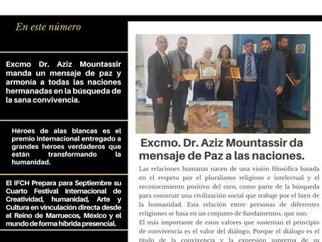 Excmo Dr. Aziz Mountassir manda un mensaje de paz y armonía a todas las naciones hermanadas