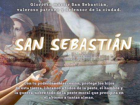 Glorioso San Sebastián valeroso patrono y defensor de la ciudad Veracruzana. Misa y Arte para tí.