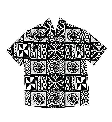 Tapa Print Men's Shirt