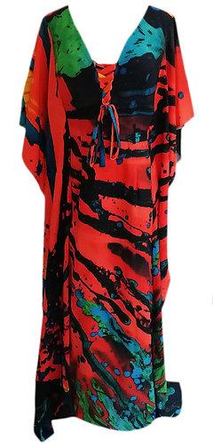 Coral Kaftan Dress