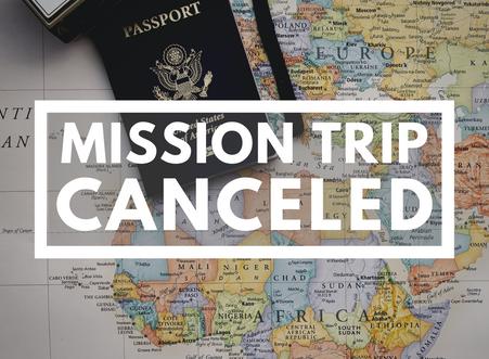 Summer Mission Trip Postponed