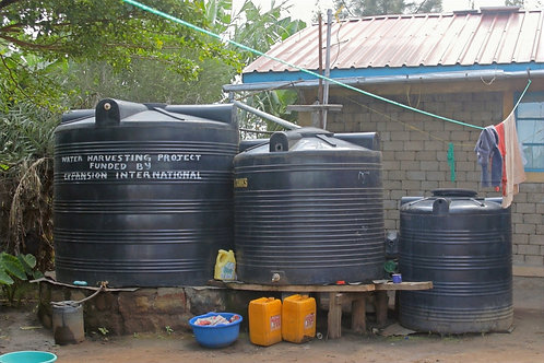 Water Tank and Gutters