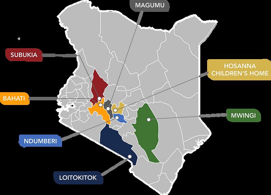 Kenya Editable Map - Med. case statement