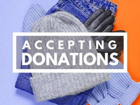 Still Accepting Donations