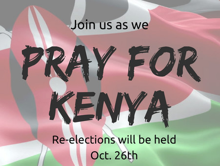 Requesting Prayer for Kenya During Elections