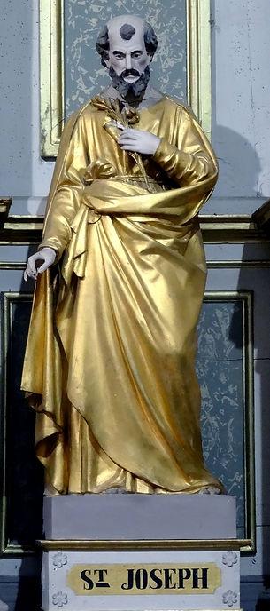 Statue de Saint Joseph carton-pierre