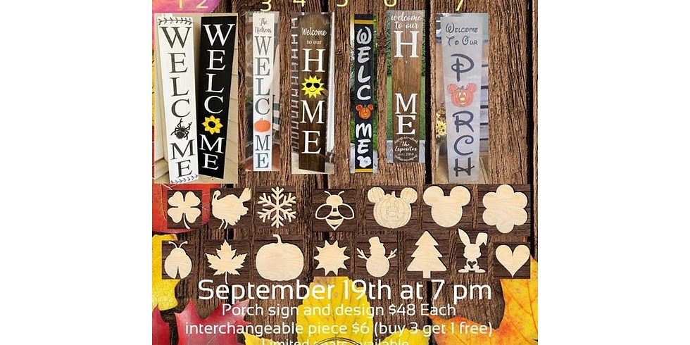 Interchangeable Porch Signs