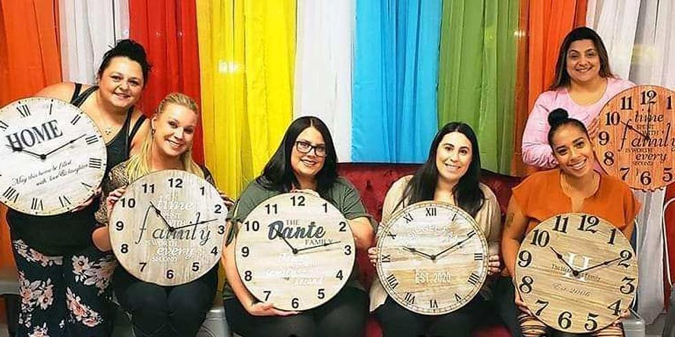 Farmhouse Clocks in person or virtual